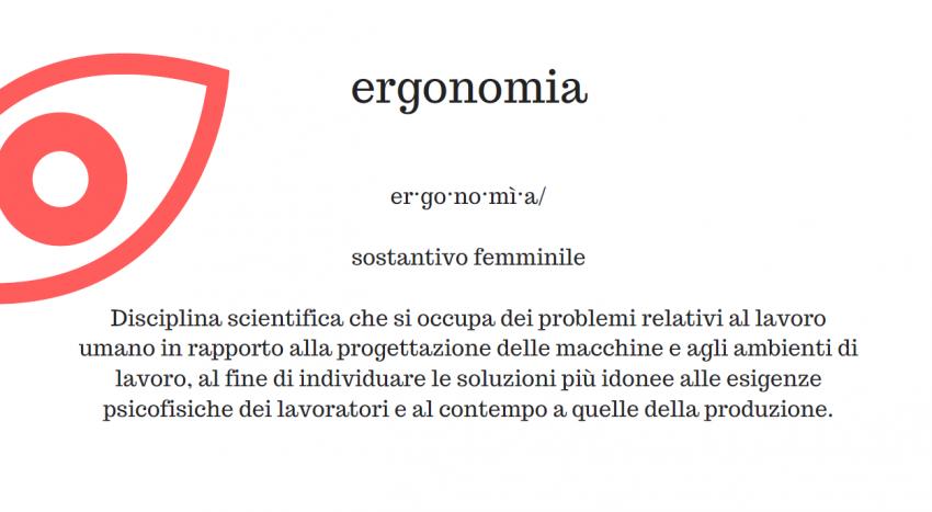 Ergonomia, cosa significa?